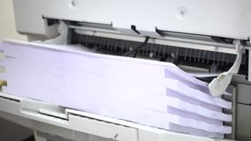 Printing documents stock video footage