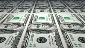 Printing of 100 dollar bills