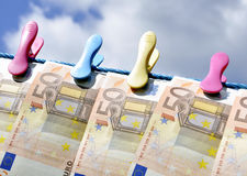 Printing Euro money Stock Image