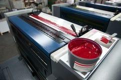 printing för press för detaljfärgpulver maskin förskjuten Royaltyfri Foto
