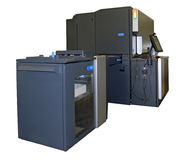 printing för press för fyra förskjutning för färg digital Royaltyfria Foton