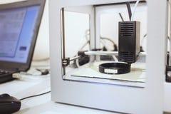 printing för skrivare 3d Övre process för slut av printingteknologi Arkivbild