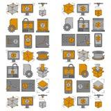 Printing för vektorklottersymboler 3d Fotografering för Bildbyråer