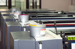 printing för press för detaljfärgpulver maskin förskjuten Arkivfoton