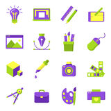 Printing and graphic design icons. Graphic design icons, vector symbols. Printing and graphic design icons Royalty Free Stock Photos