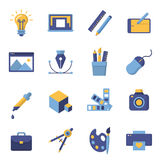 Printing and graphic design icons. Graphic design icons, vector symbols. Printing and graphic design icons Stock Images