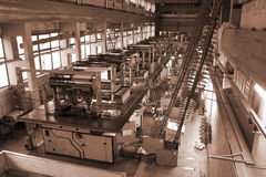 Printing house. Different printing machines and polygraphing equipment Royalty Free Stock Images