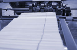 Printing house. Different printing machines and polygraphing equipment Royalty Free Stock Photos