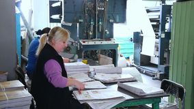 Printing house. Newspaper factory. stock footage