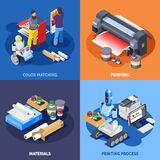 Color Printing Design Concept Stock Photo