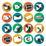 Printing house web flat color icons set Royalty Free Stock Image
