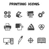Printing Icons Royalty Free Stock Images