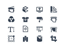Printing icons Royalty Free Stock Photography