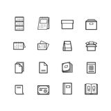 Printing icons. Paper icons. Printing Products icons. Stock Image
