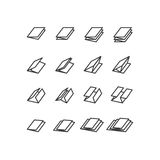 Printing icons. Paper icons. Printing Products icons. Stock Photography