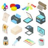Printing icons set, simple style Stock Photos