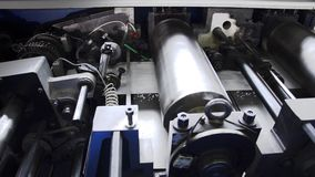 Printing industry, machinery stock video