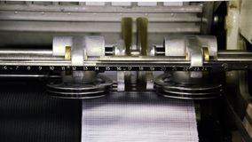Printing industry, machinery stock footage