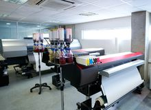 Printing industry transfer paper printer for textile Stock Photography