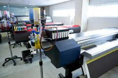 Printing industry transfer paper printer for textile Stock Image