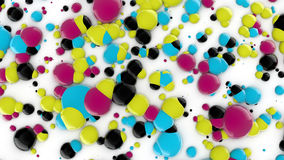 Printing ink drops Stock Photo