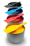 Printing inks on white background Stock Image