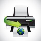 Printing a international globe illustration Stock Photos