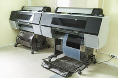 Printing labels on offset machine Stock Images