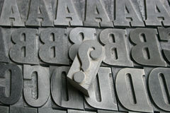 Printing letters Stock Image