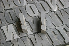 Printing letters Royalty Free Stock Image