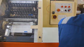 A printing machine controlled by a print operator royalty free stock image