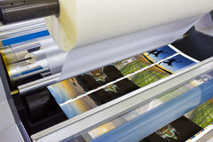 Printing machine detail of laminator Stock Photography