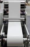 Printing machine. Detail of roll printing machine Stock Photo