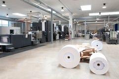 Printing machine: digital web press Royalty Free Stock Image