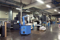 Printing machine: digital web press Royalty Free Stock Photos