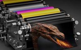 Printing machine vector illustration
