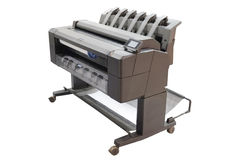 Printing machine. The image of a professional printing machine royalty free stock photo