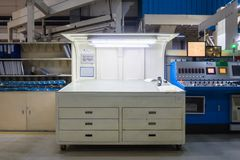 Printing Machine Inspection Booth Color Checking Equipment Nobod. Y Empty royalty free stock photos