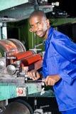 Printing machine operator royalty free stock photos