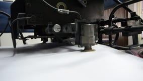 Printing Machine paper feeder stock video footage