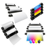 Printing machine set Stock Image