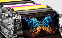 Printing machine Stock Images