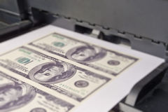 Printing money Stock Image