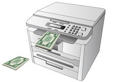 Printing money Stock Photo