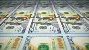 Printing of new 100 dollar banknotes stock video footage