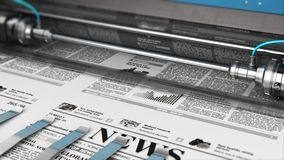 Printing newspapers in typography stock video footage