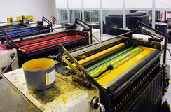 Printing - Offset press Royalty Free Stock Photography