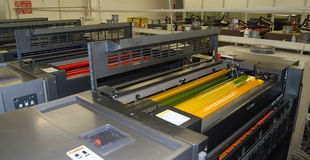 Printing - Offset press, detail Stock Photography