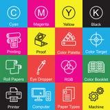 Printing outline design Stock Image