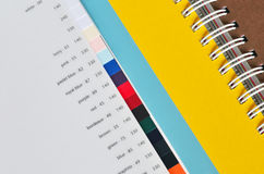 Printing paper sampler Royalty Free Stock Photography